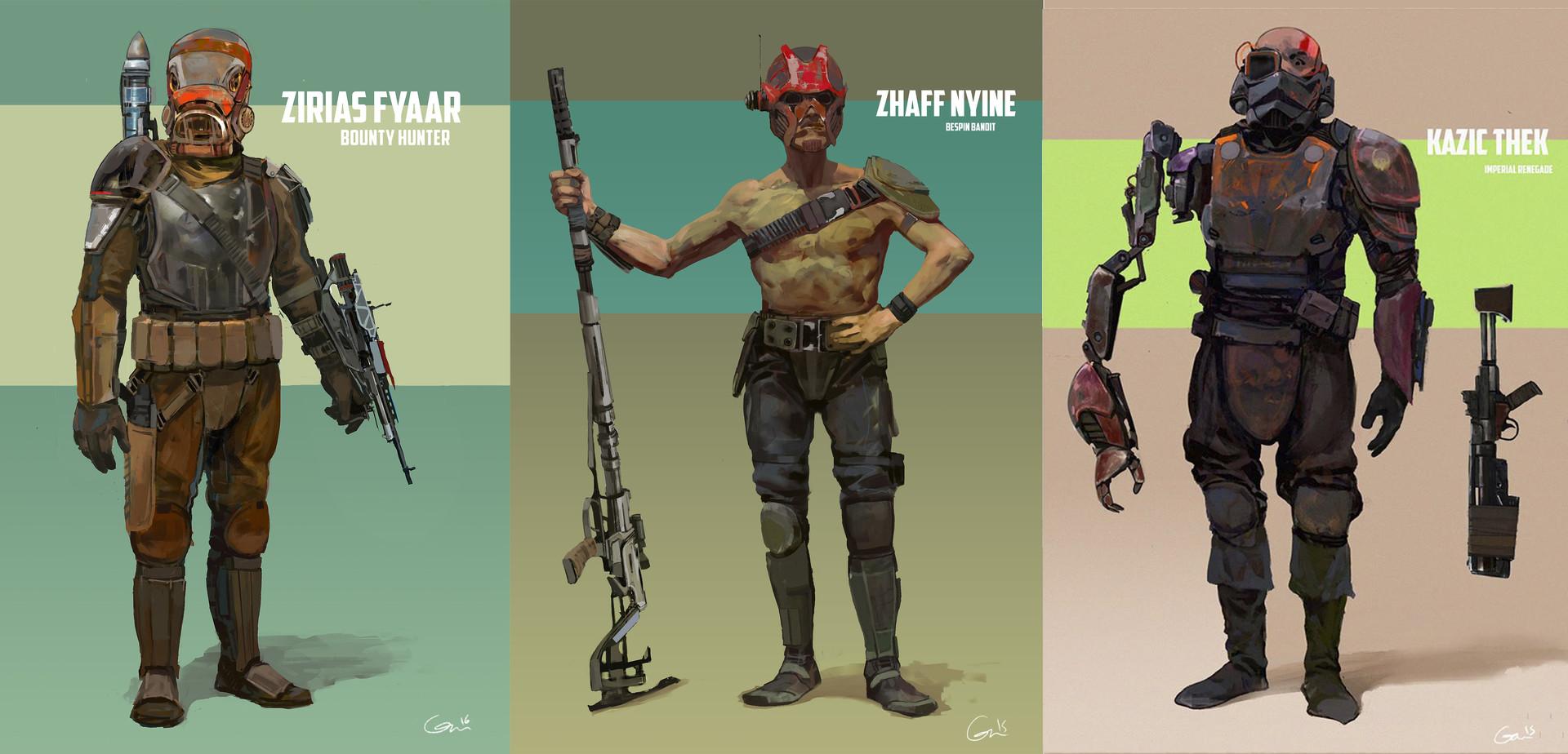 David Gau Star Wars Secondary Characters