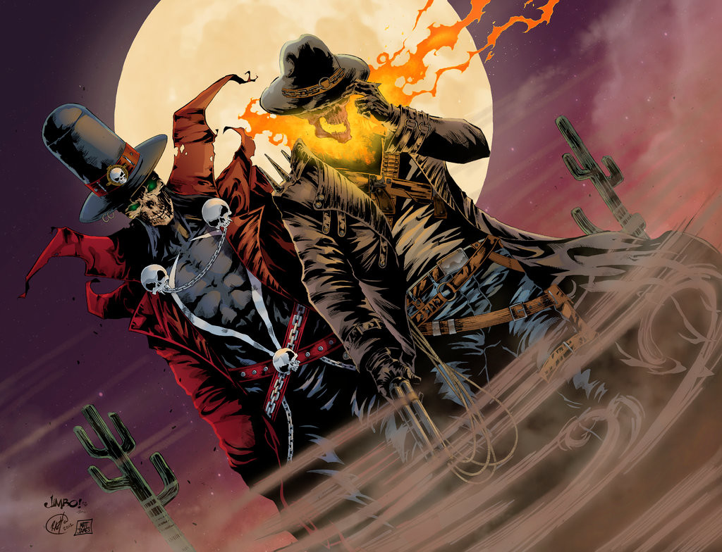 Matt james gunslinger spawn and western ghost rider by mattjamescomicarts d9mtxwp
