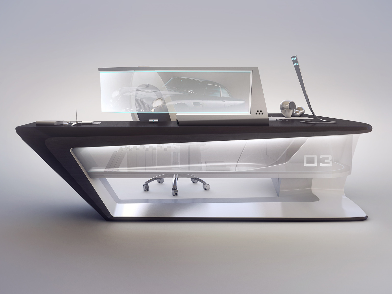 artstation modern desk design encho enchev - Modern Desk Design