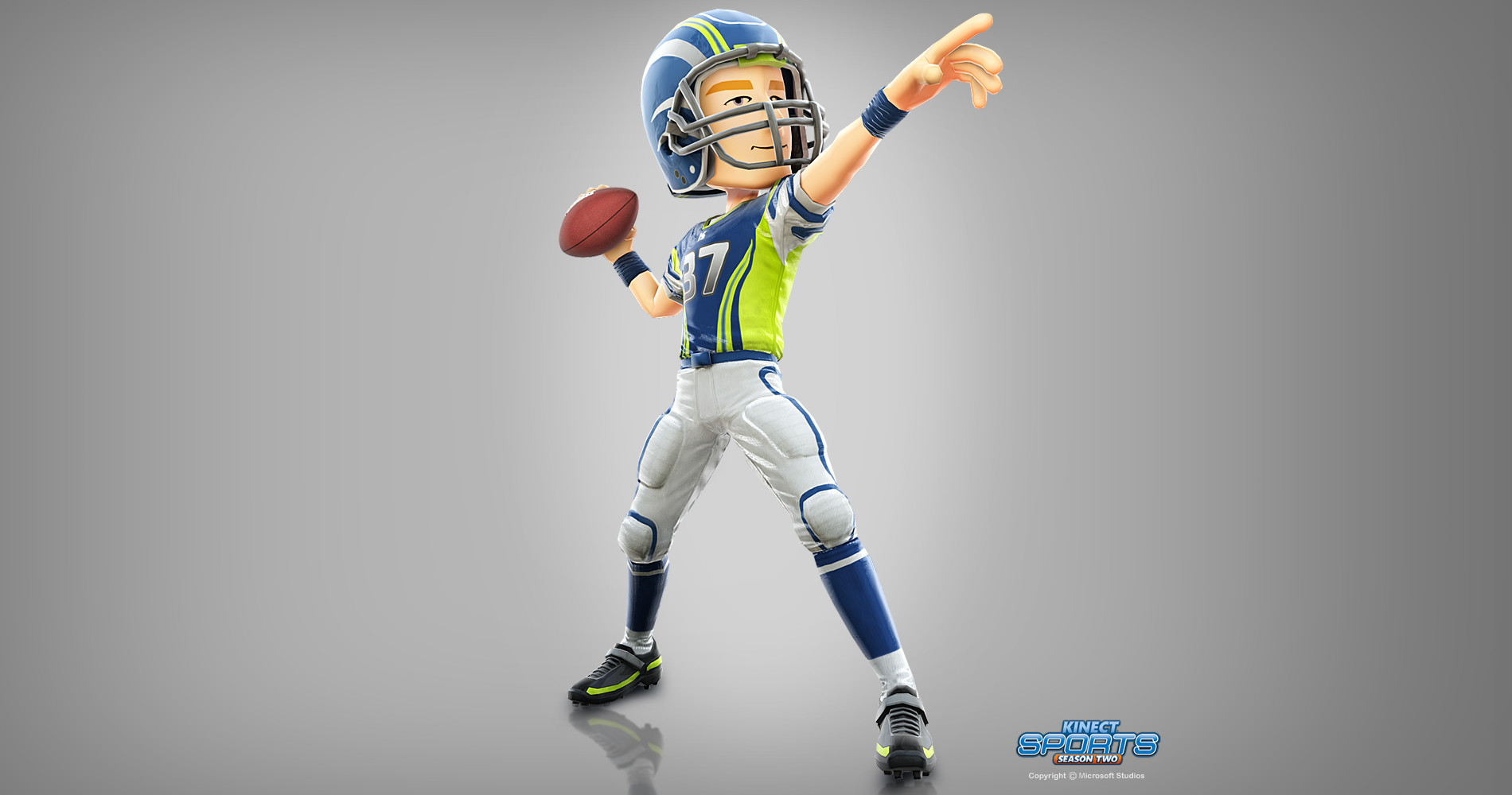 Tim turner 3d kinect sports2 american footballer