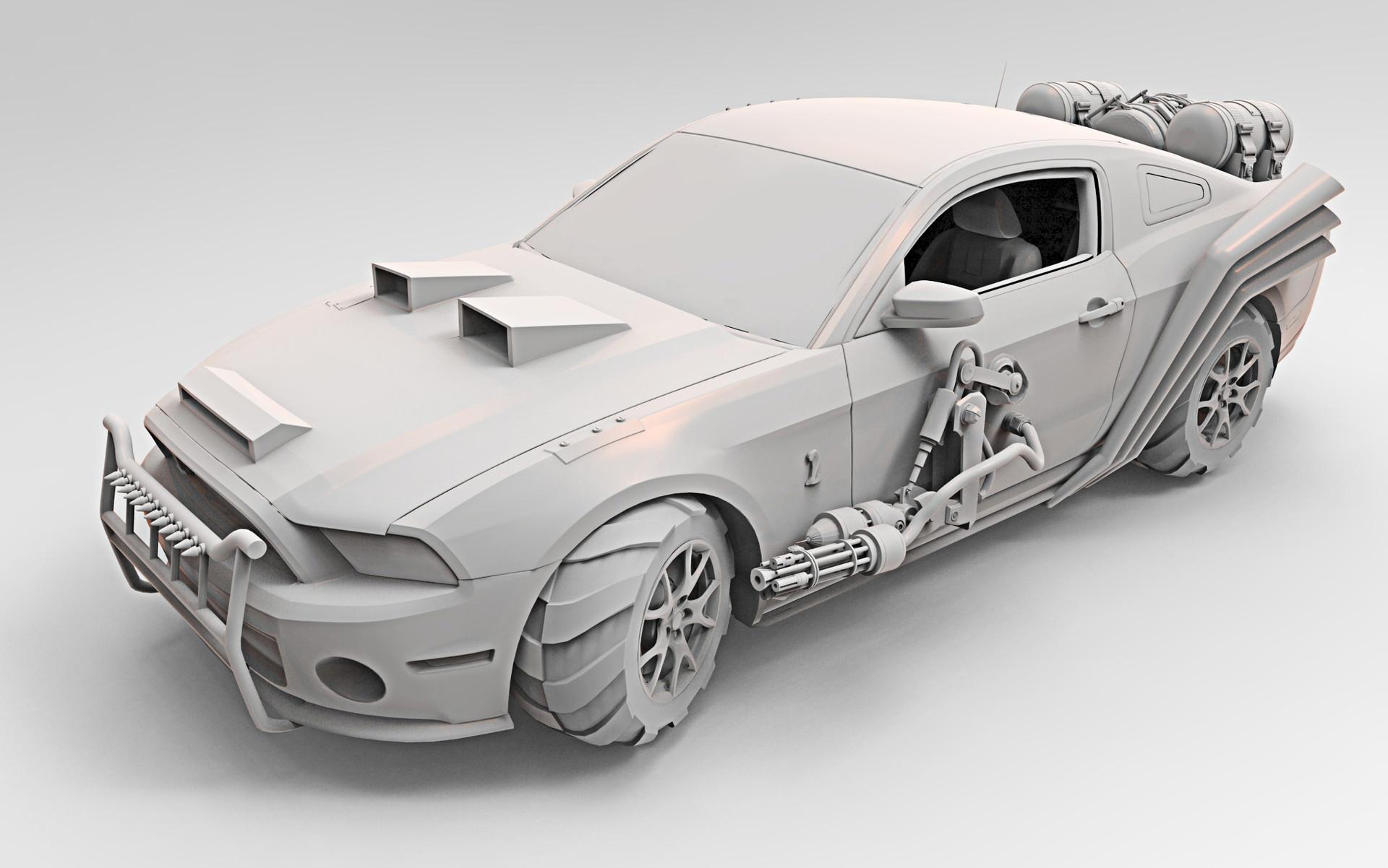 Virendra Shekhawat Vj Mustang Concept Car Madmax Fan Art