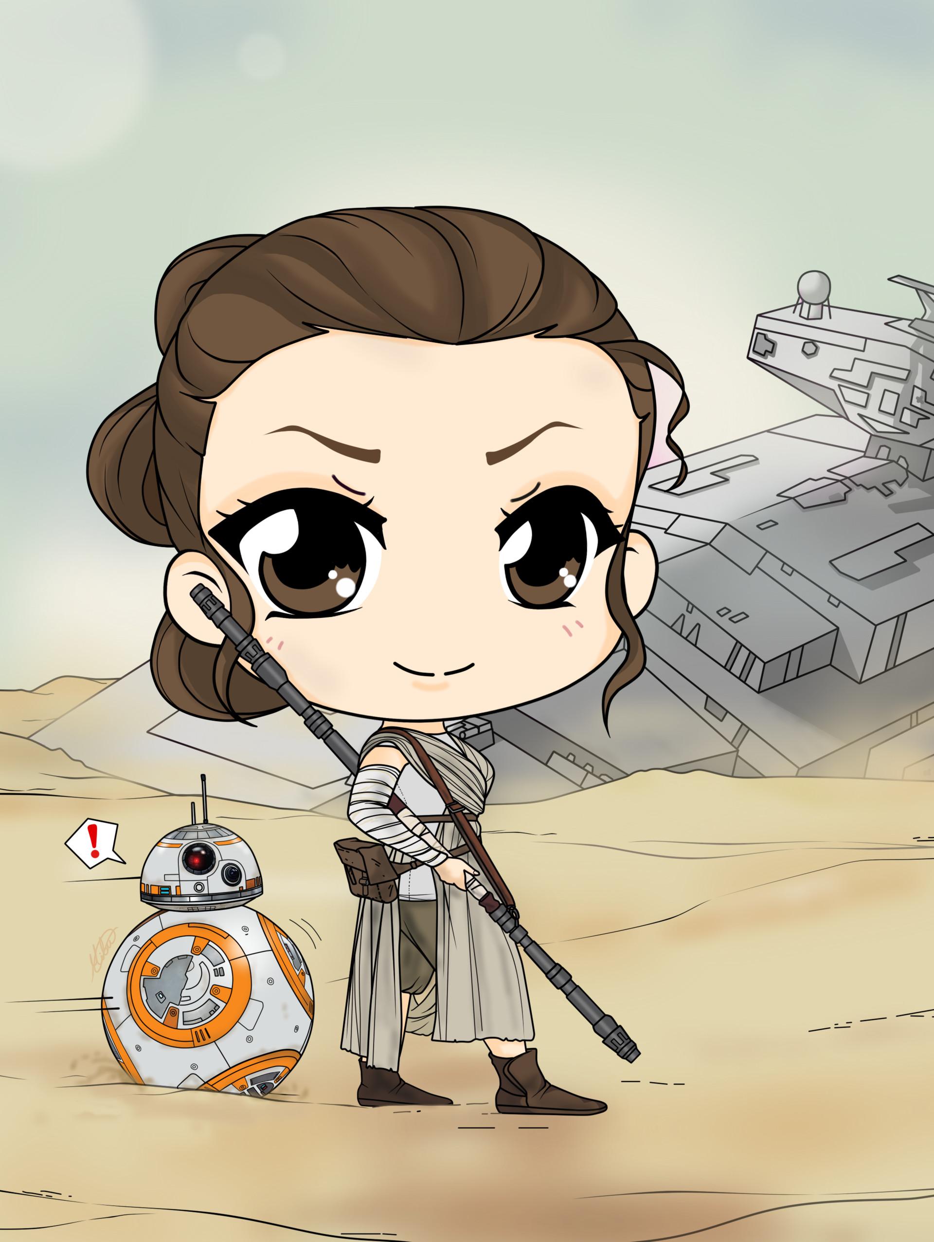 Artstation - Star Wars, The Force Awakens - Rey  Bb 8 -9185