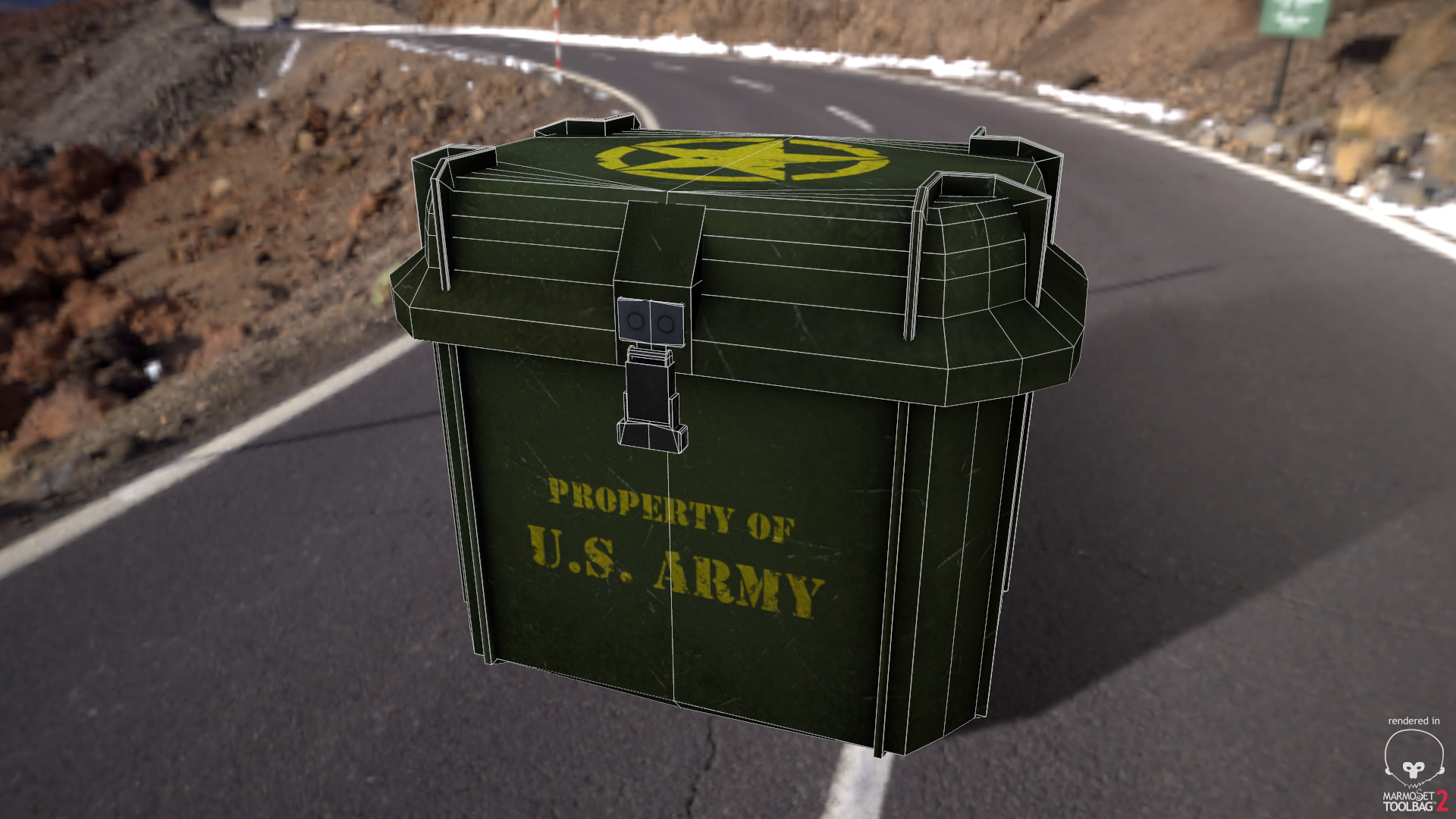 Alex natali army crate wireframe