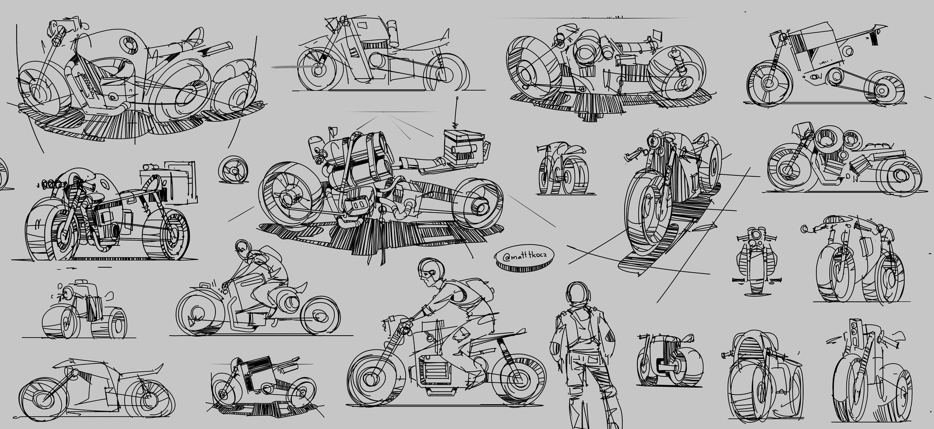 Matt tkocz motorcycle sketches1 artstation
