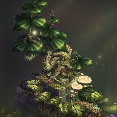 Florian moncomble isometric temple tree