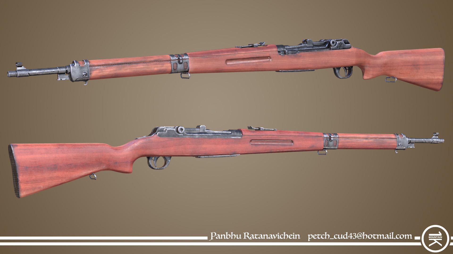 Artstation Custom 1906 Luger Rifle Panbhu Ratanavichein