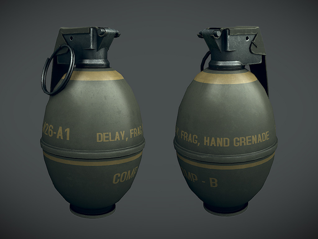 Waqas iqbal m26 fraggrenade render