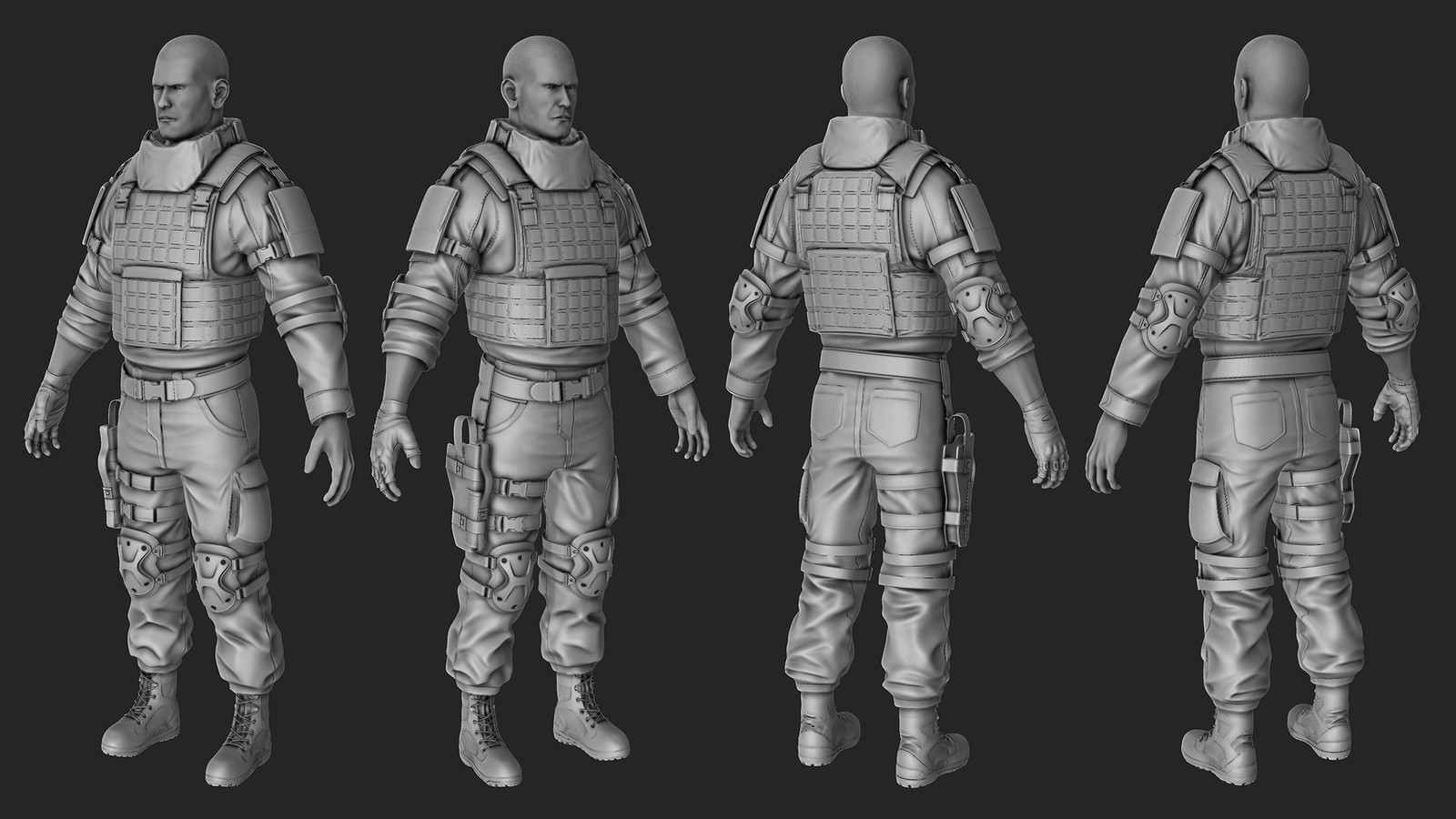 Modular Military Soldier