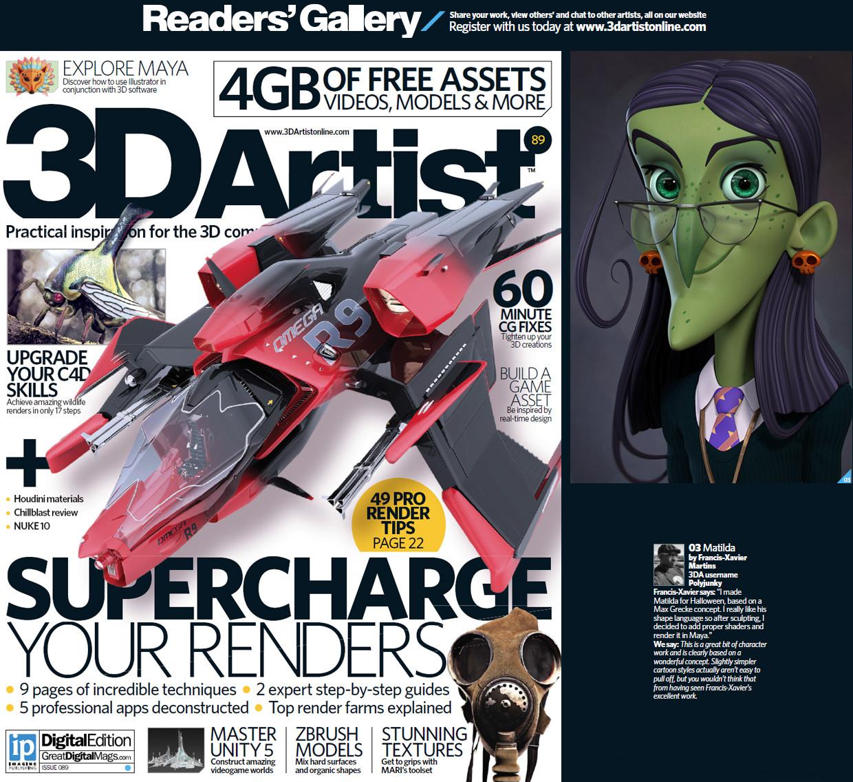 Featured in 3d Artist magazine Jan 2016.