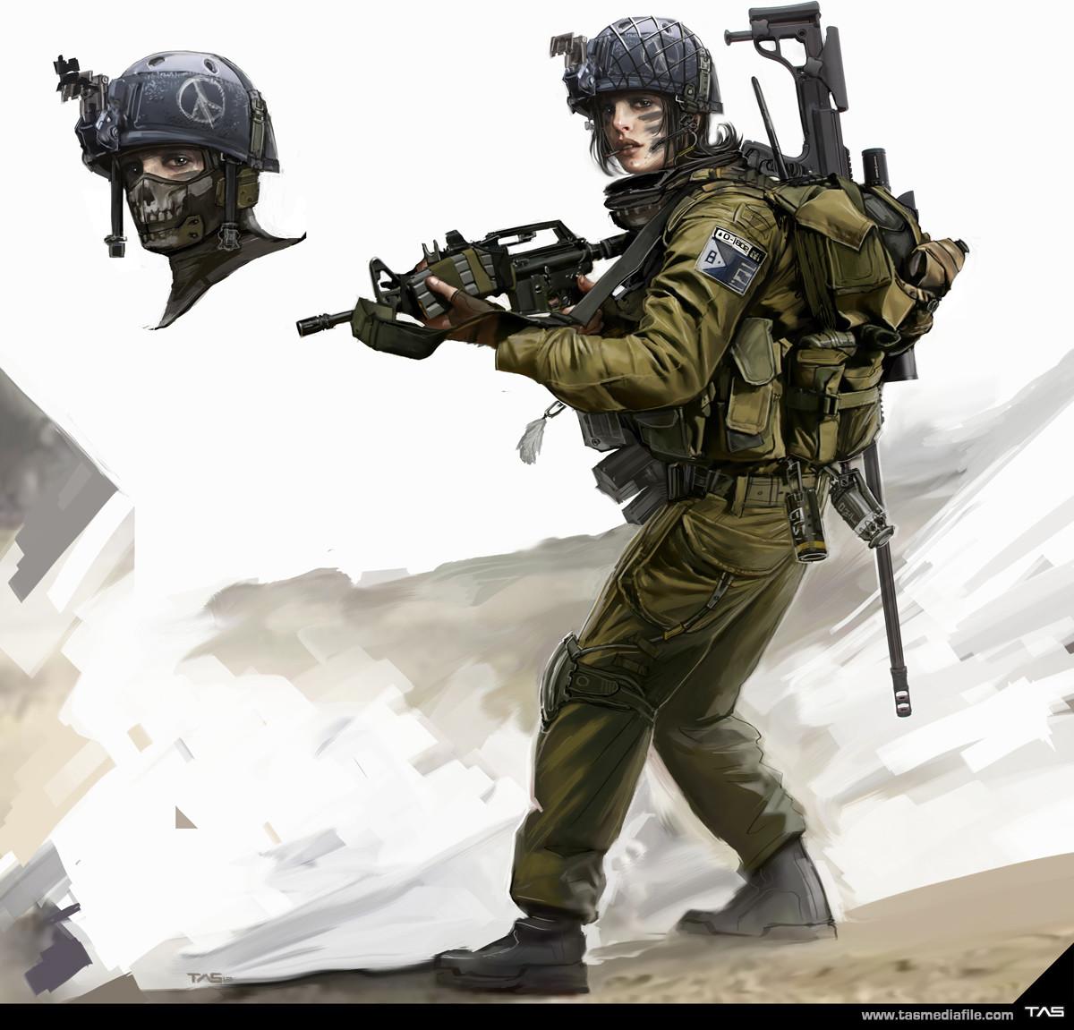 Apocalyptic Soldier Pics: Isreali Soldier, Thomas A. Szakolczay