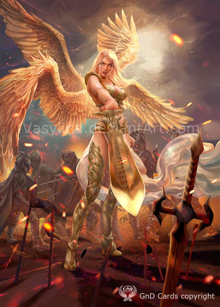 artstation angel warrior vasilyna holod