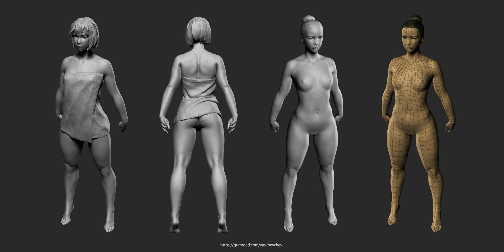 Охуйнная женская фигура