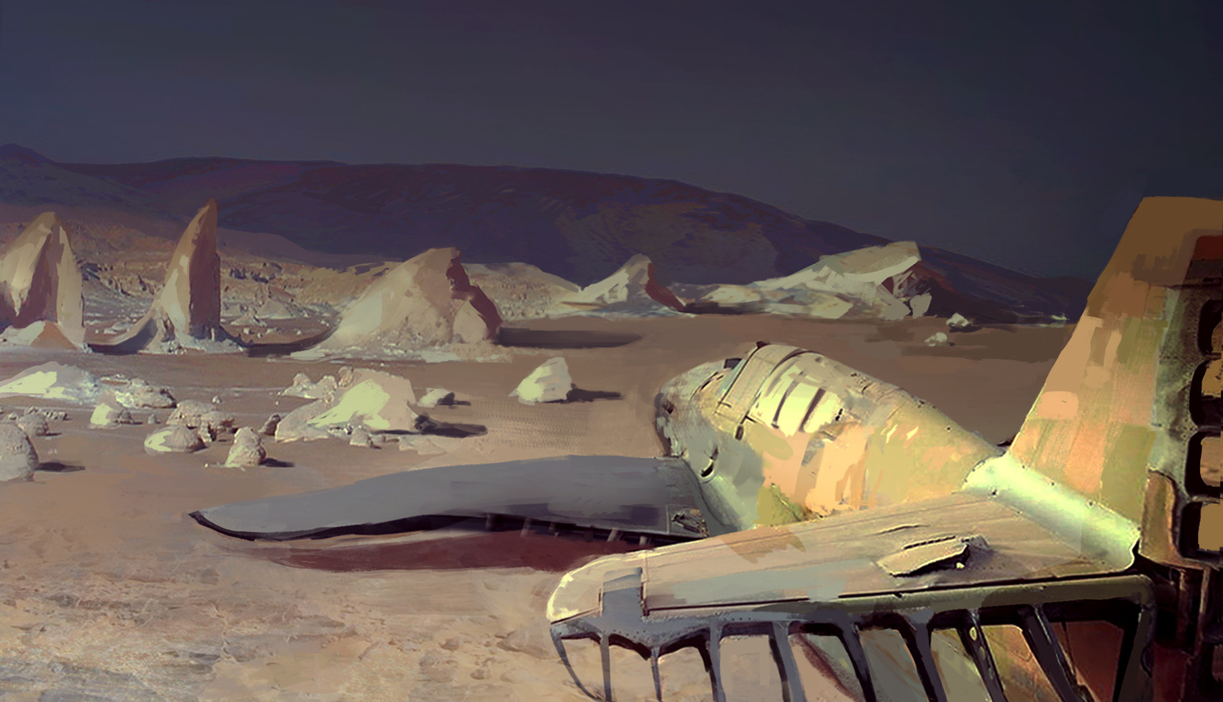 Pat fix samolot na pustyni