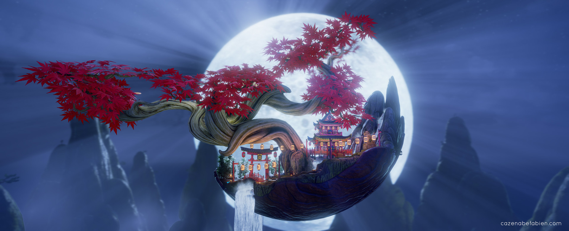 Fabien cazenabe lost japanese temple 3d environment art design unreal engine 01
