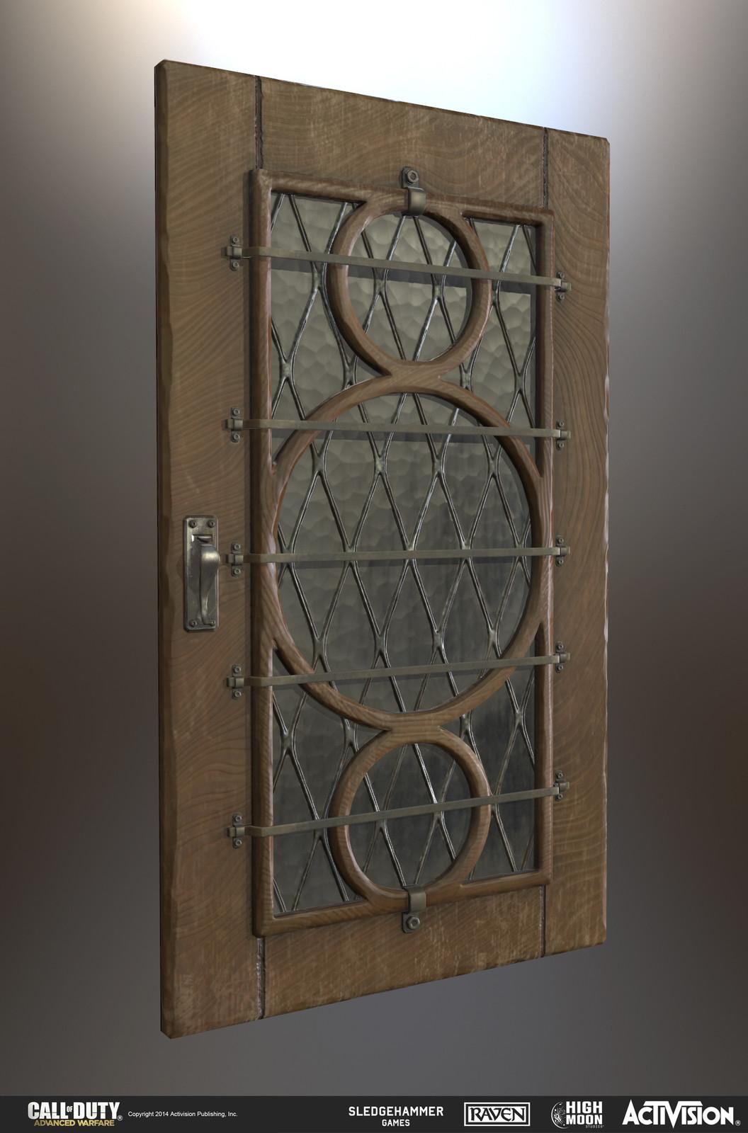 Wooden door prop. Modeled in Maya and Zbrush.