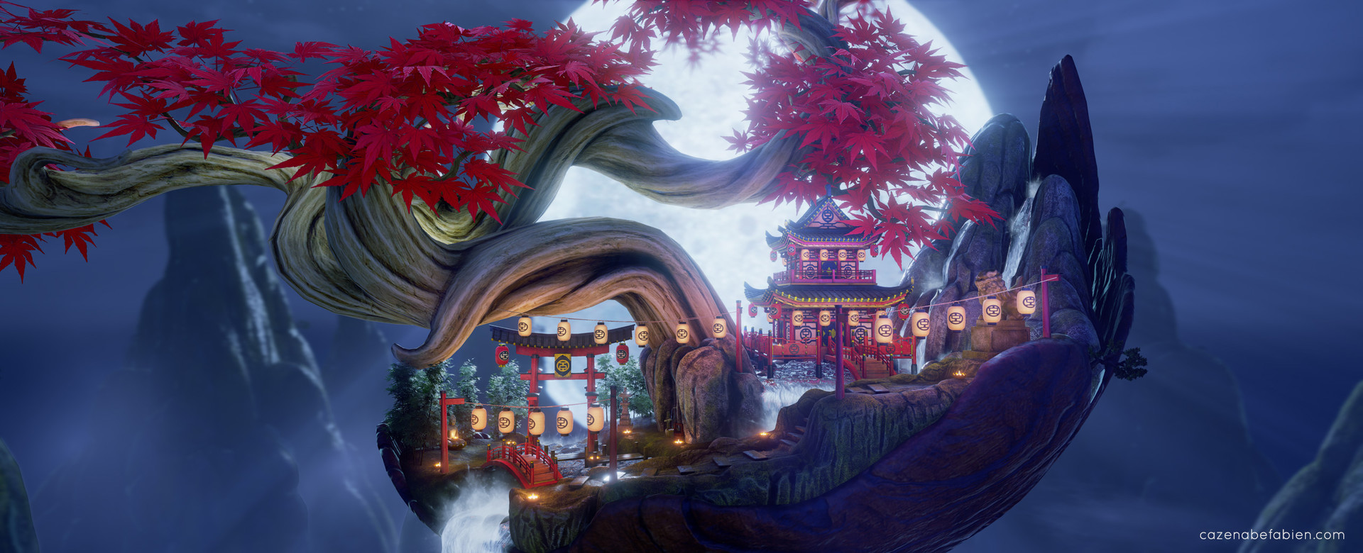 Fabien cazenabe lost japanese temple 3d environment art design unreal engine 03