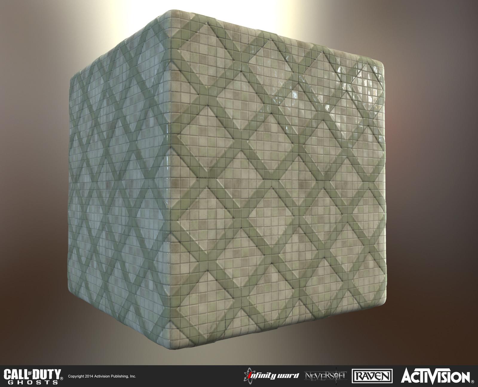 Tiling tile material.
