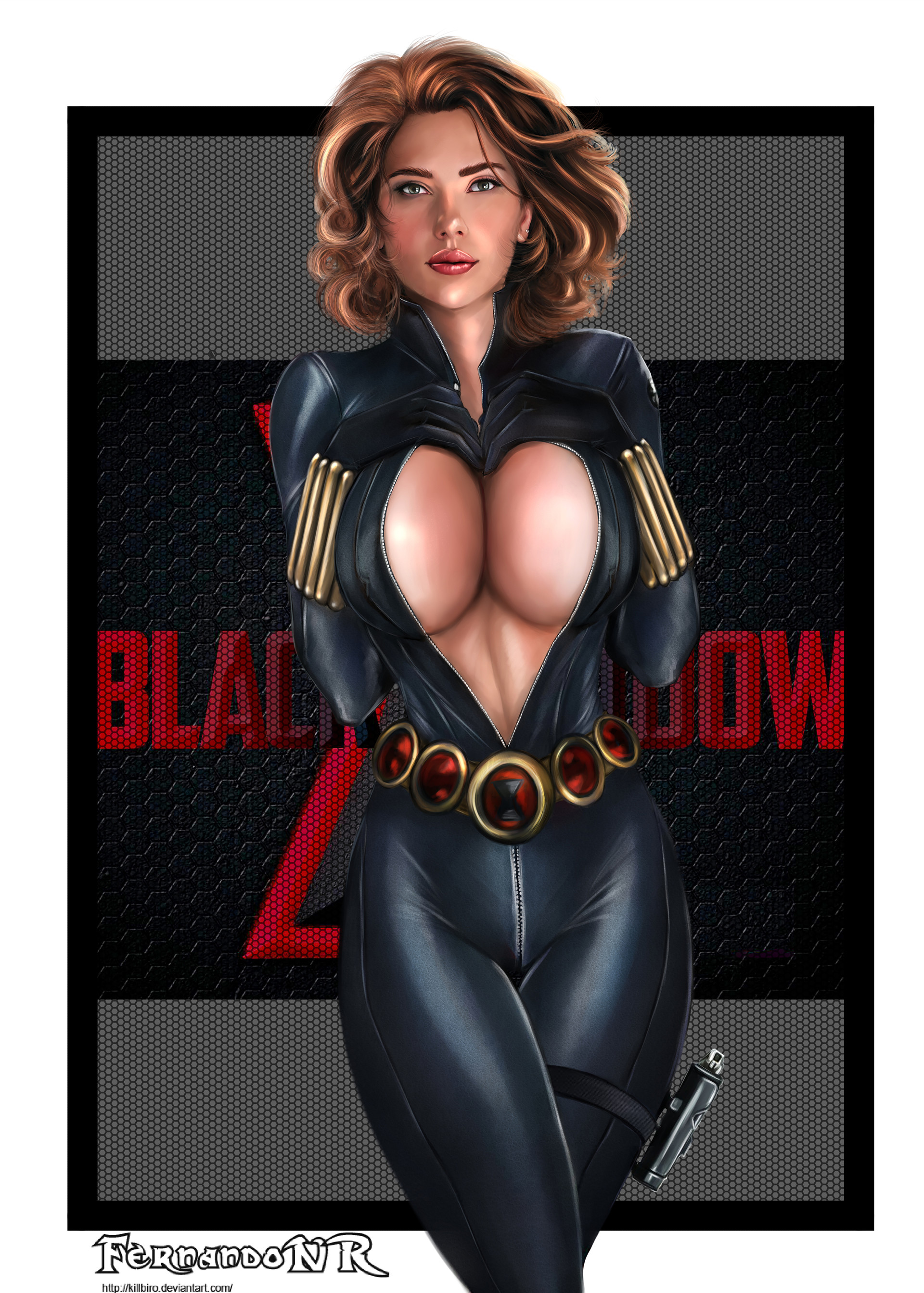 Big black latex boobs — pic 15