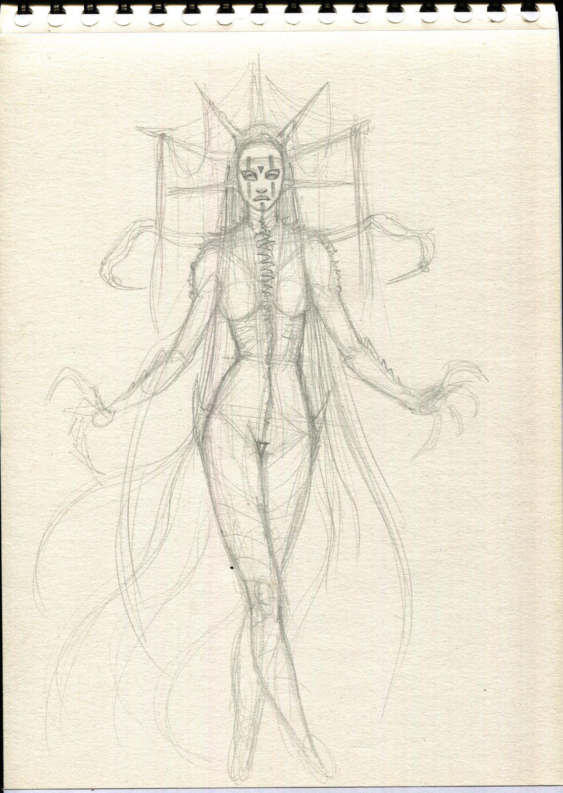 Rafael teruel 1001 nightmares beauty by rafater sketch