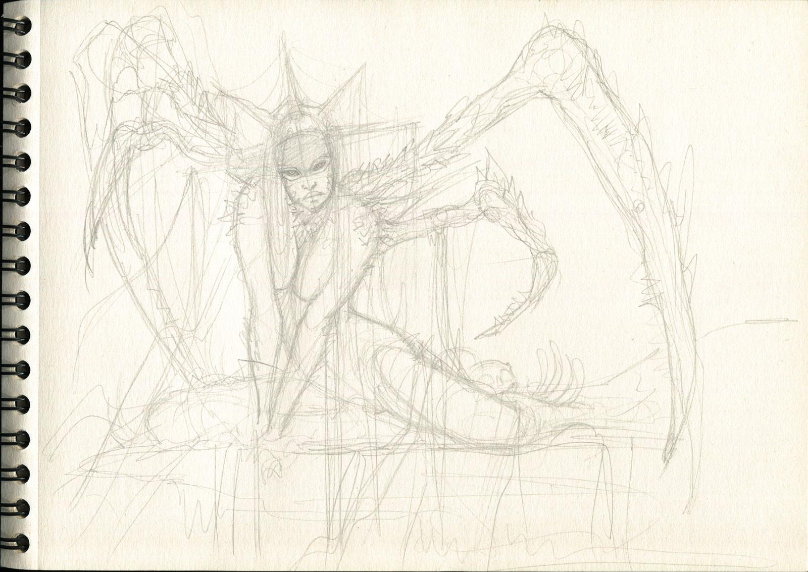Rafael teruel 1001 nightmares beauty by rafater pencil sketch