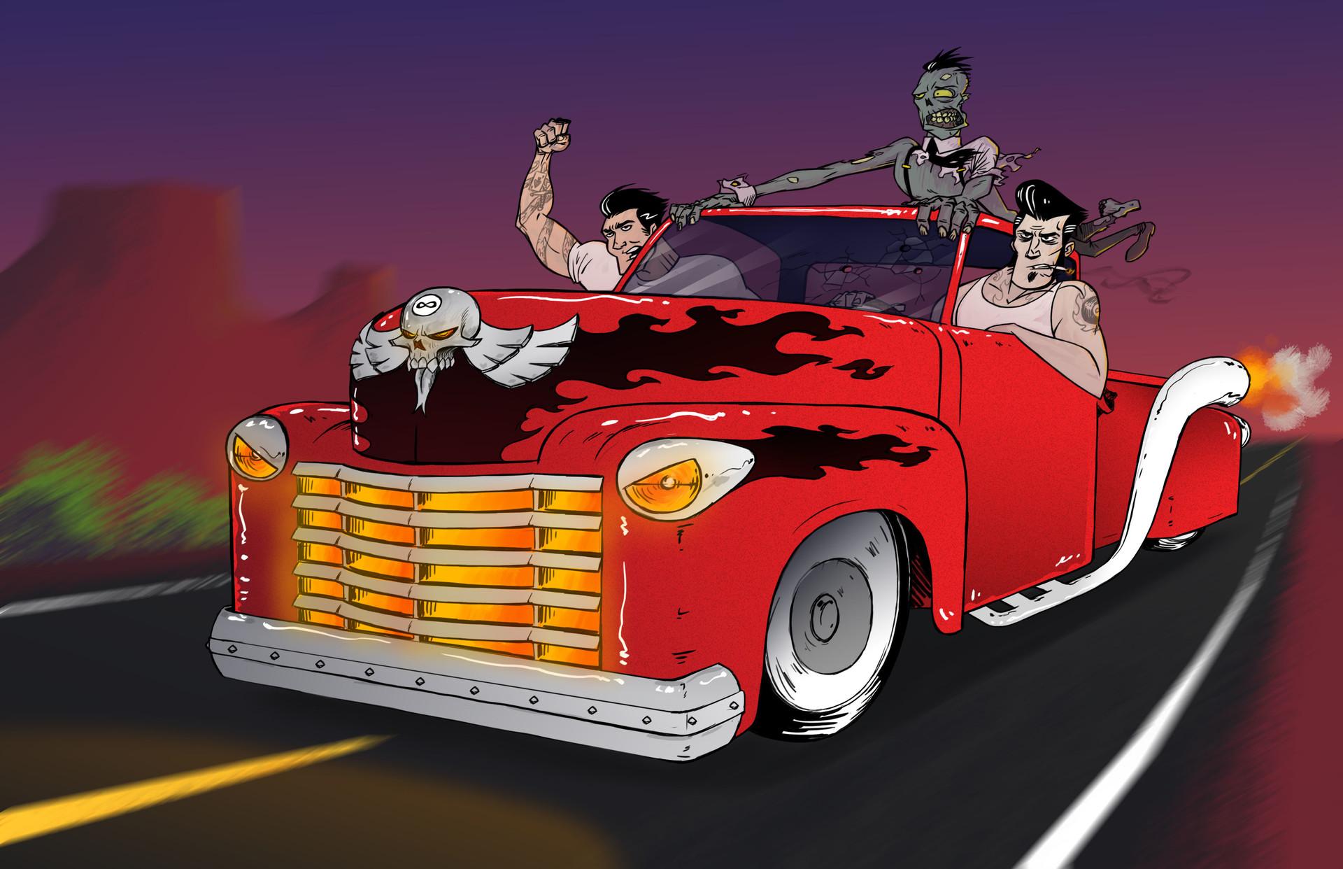 Max haig rockabilly truck