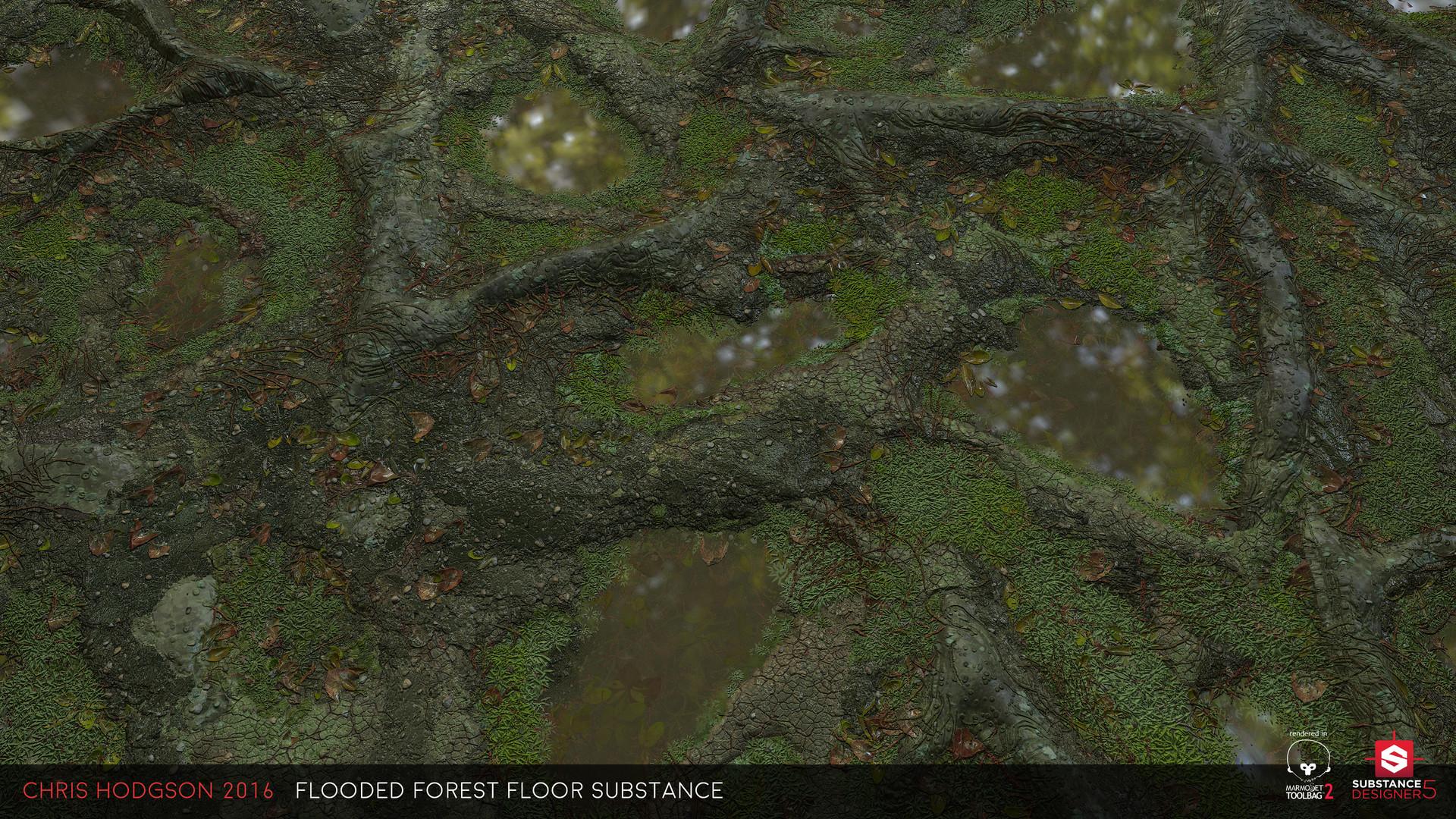ArtStation - Flooded Forest Floor / Substance Designer ...