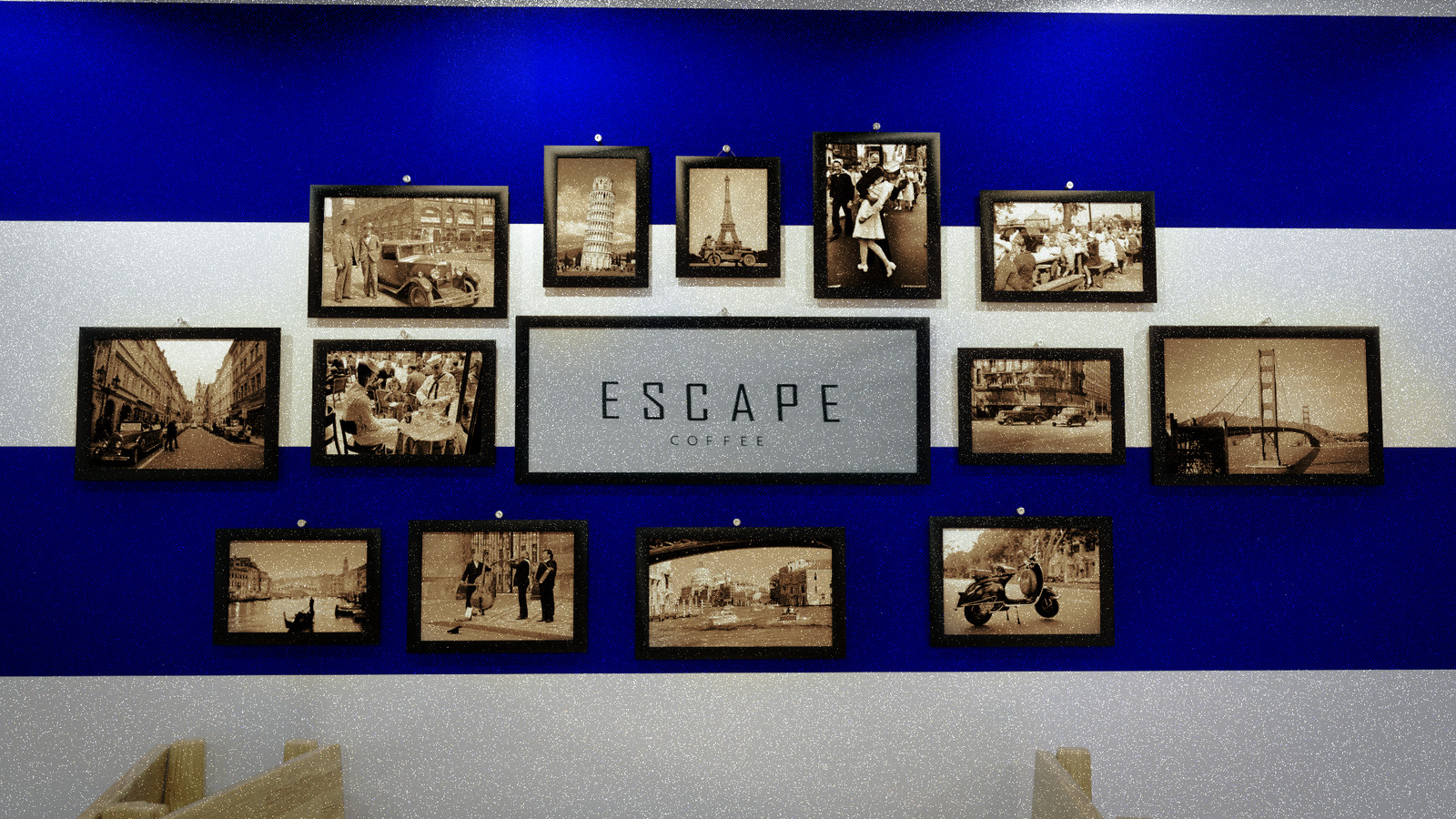Wall of Pictures ( on the left)