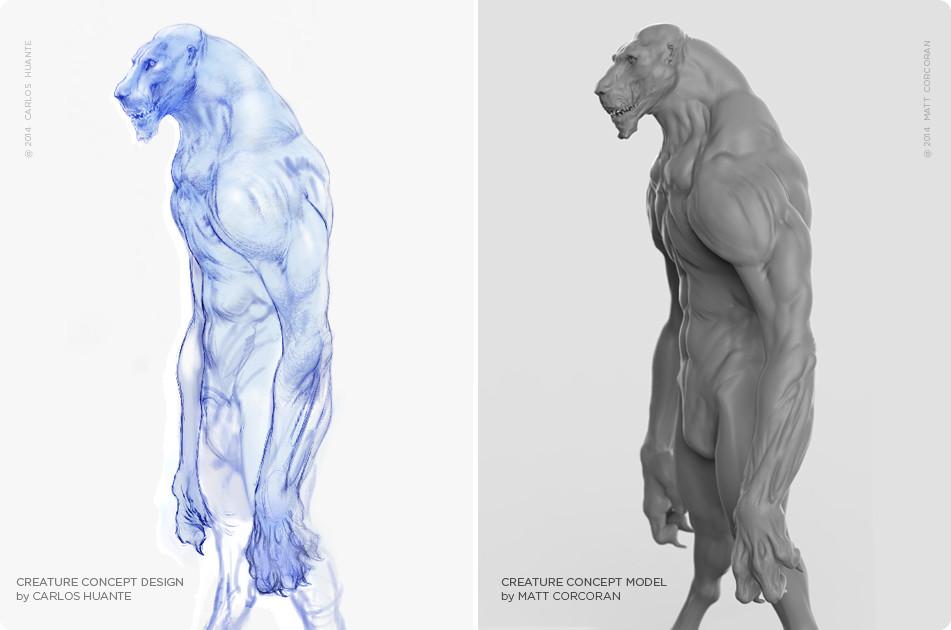 Sculpture by Matt Corcoran Concept by Carlos Huante