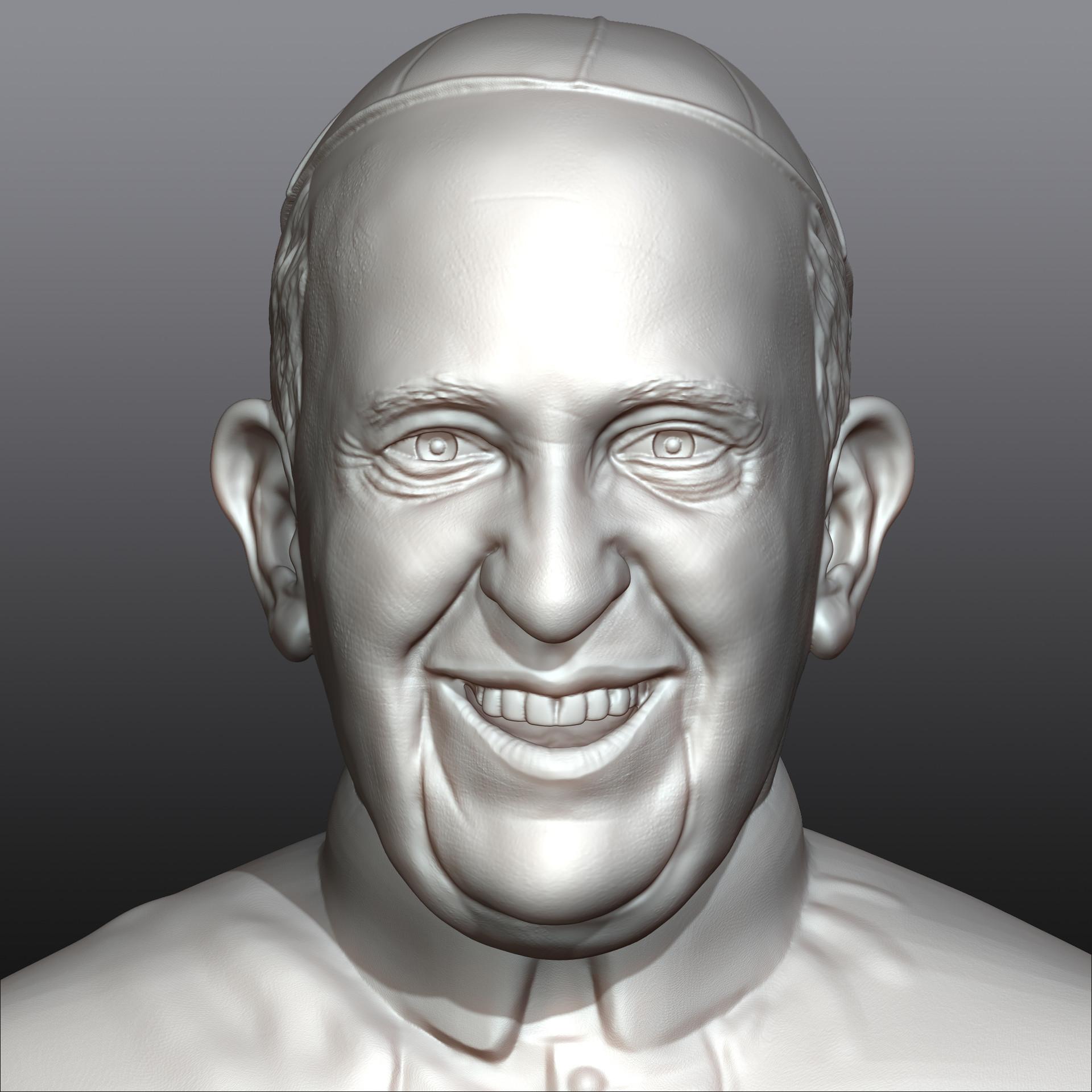 Tomislav veg pope francis face