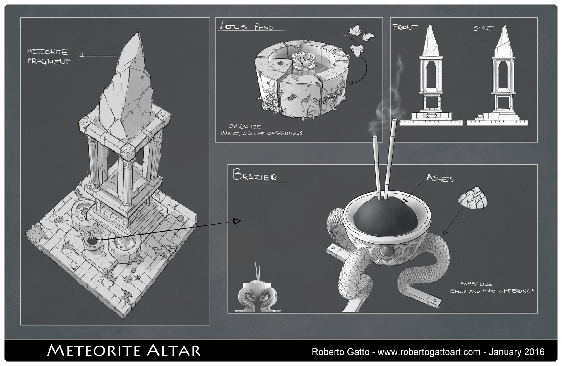 Roberto gatto meteorite altar portfolio