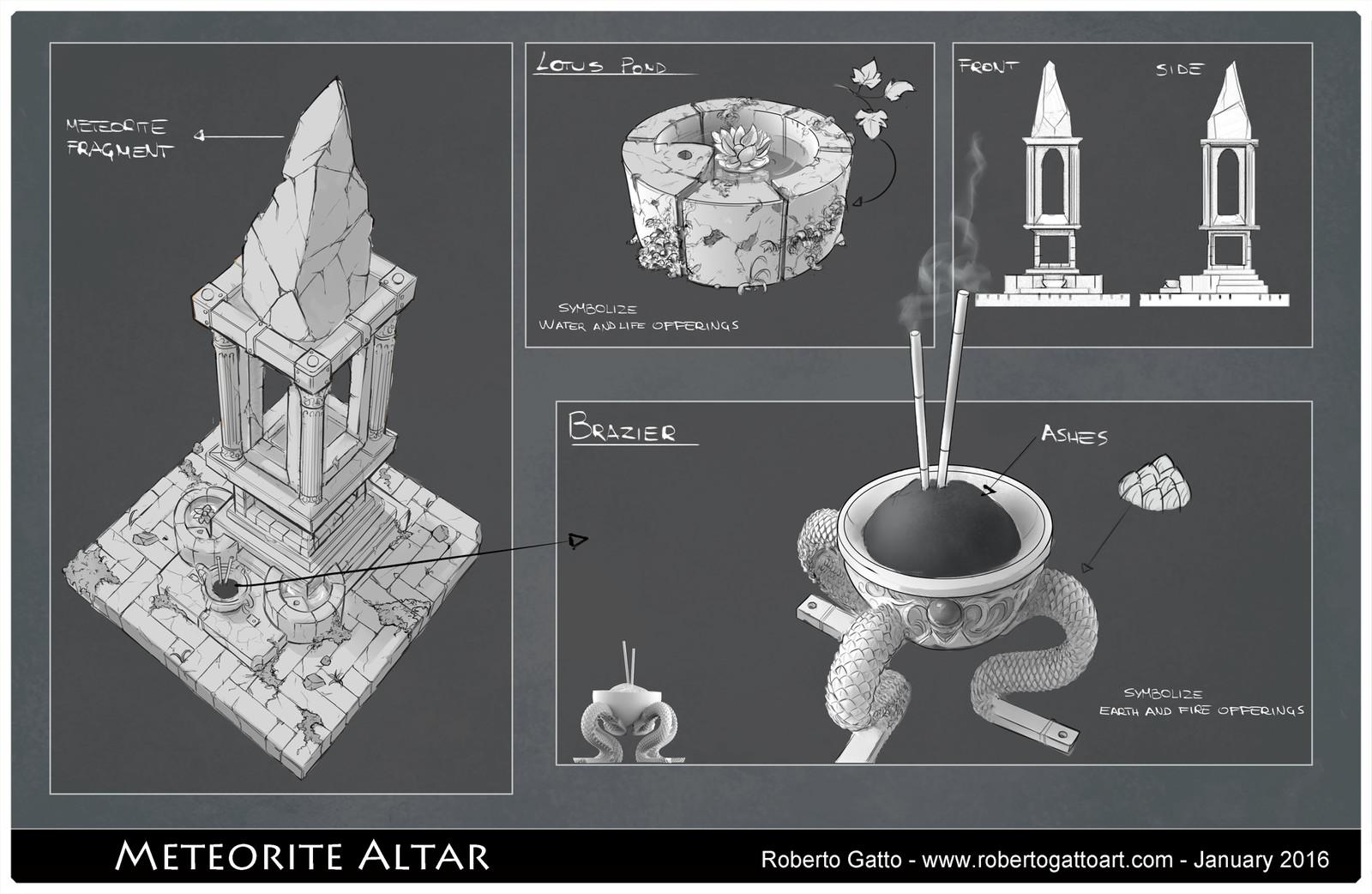 Meteorite altar
