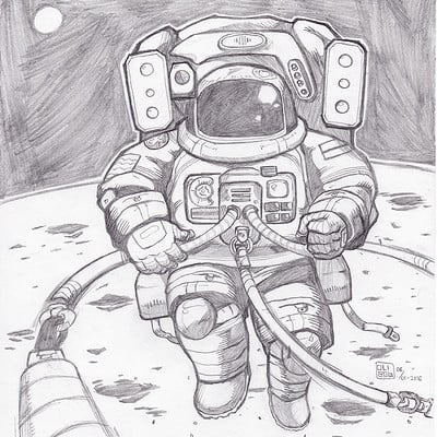Oliver liao astronaut by oligow d9nnni5