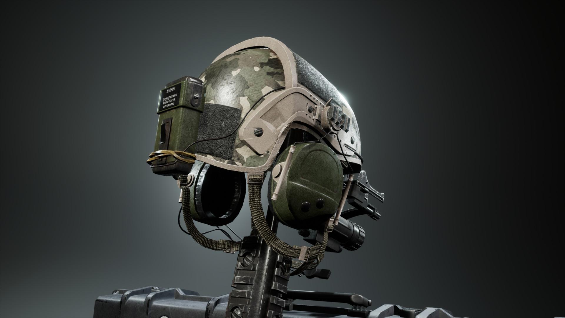 ArtStation - Army Helmet, Gaetan Thibaut