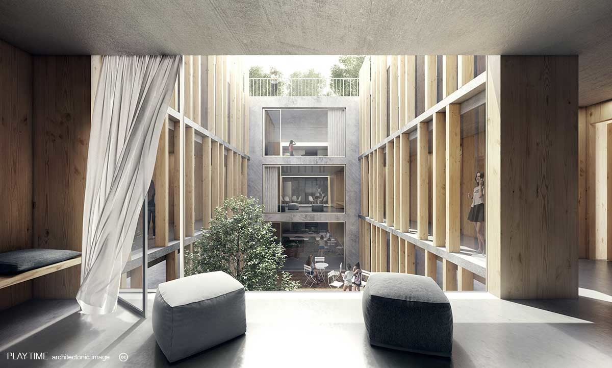 Play time architectonic image gwj architektur wankdorf city bern 1st prize 02