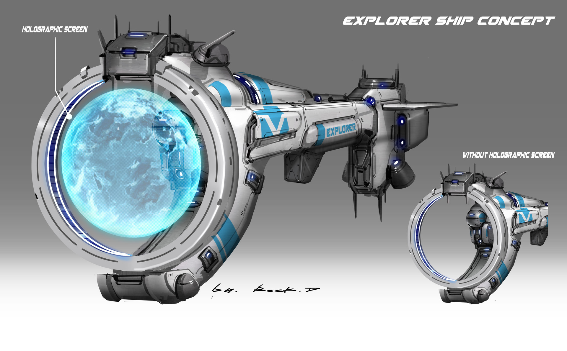 Rock d explorer ship