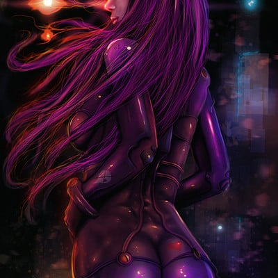 Anto finnstark asuka soryu langley purple suits by antofinnstark d9onpgv