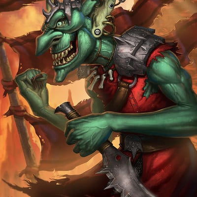 Travis lacey goblin token mtg card art fantasy magic the gathering
