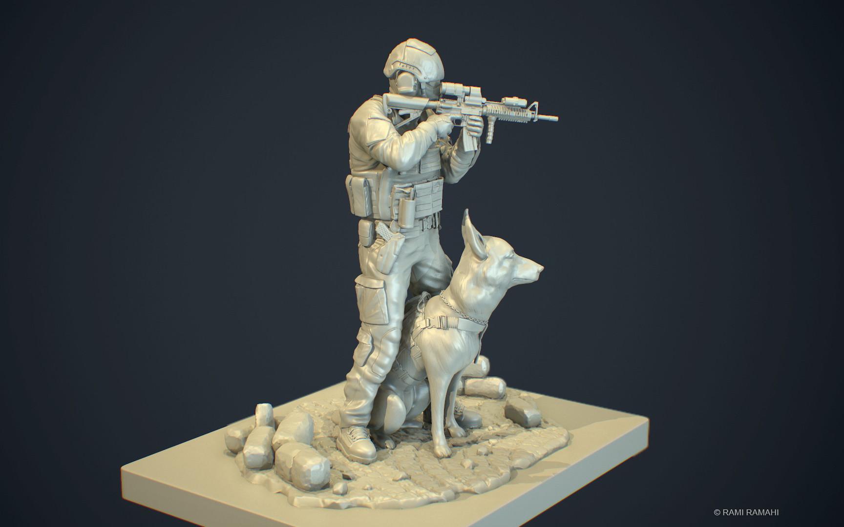 Rami ramahi soldier 3dprint 001