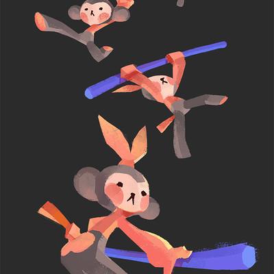 Kakar cheung monkeys