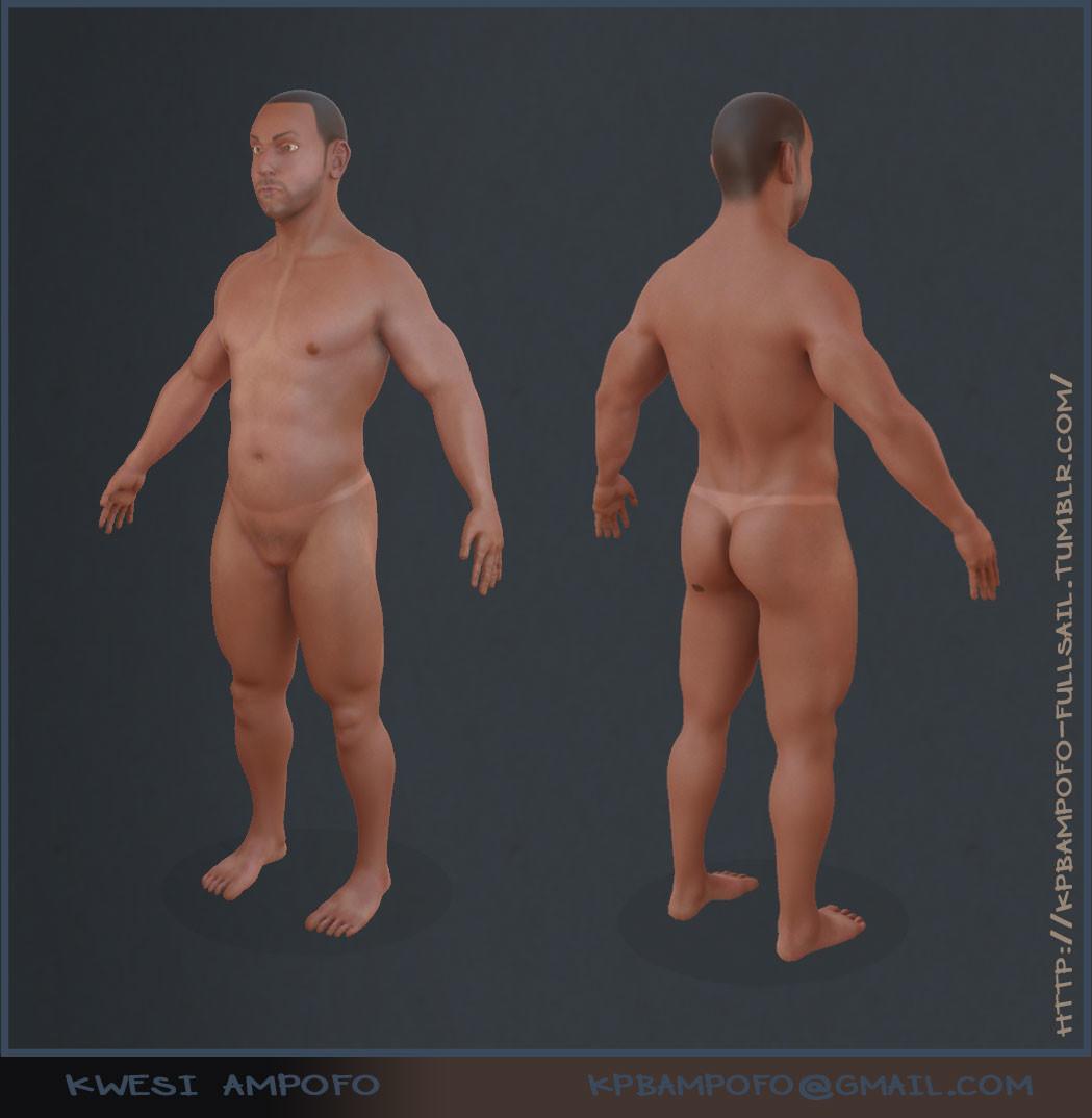 ArtStation - Male Anatomy Study, Kwesi Papa B. Ampofo