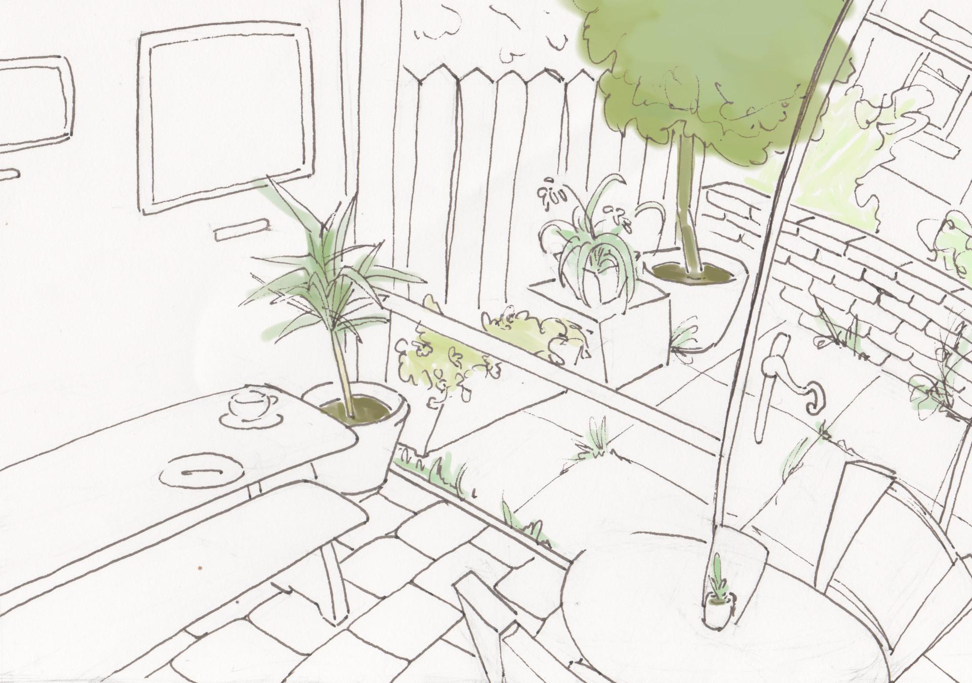 Eireni moutoussi back garden