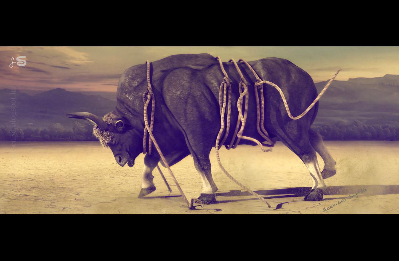 Surajit sen gaur bull surajitsen india single