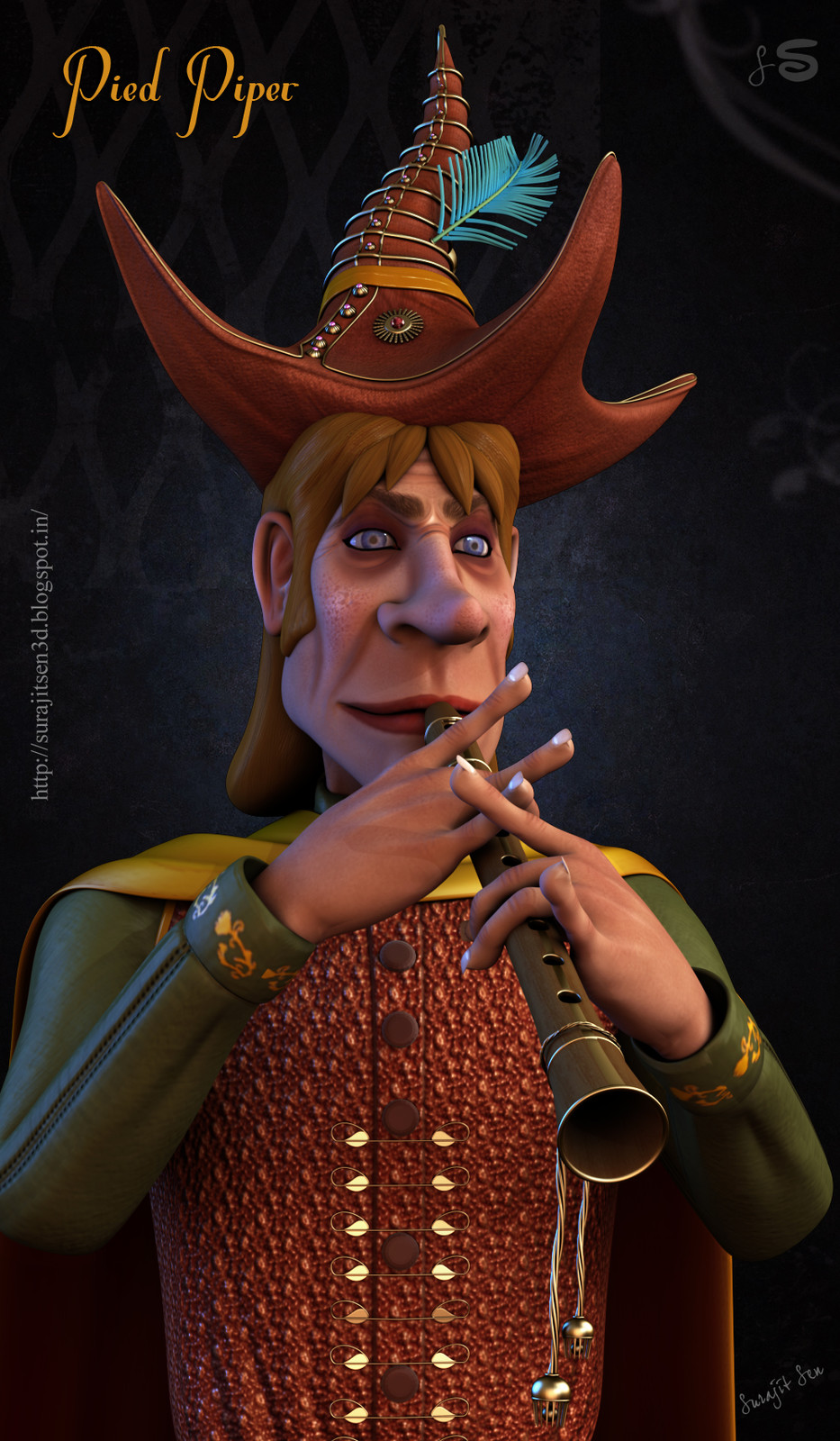 Pied Piper- 3D Character by Surajit Sen