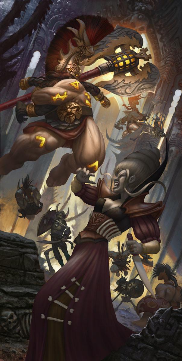 Rafael teruel grimwrath berserker vs vampire 4 color 2k copy by rafater
