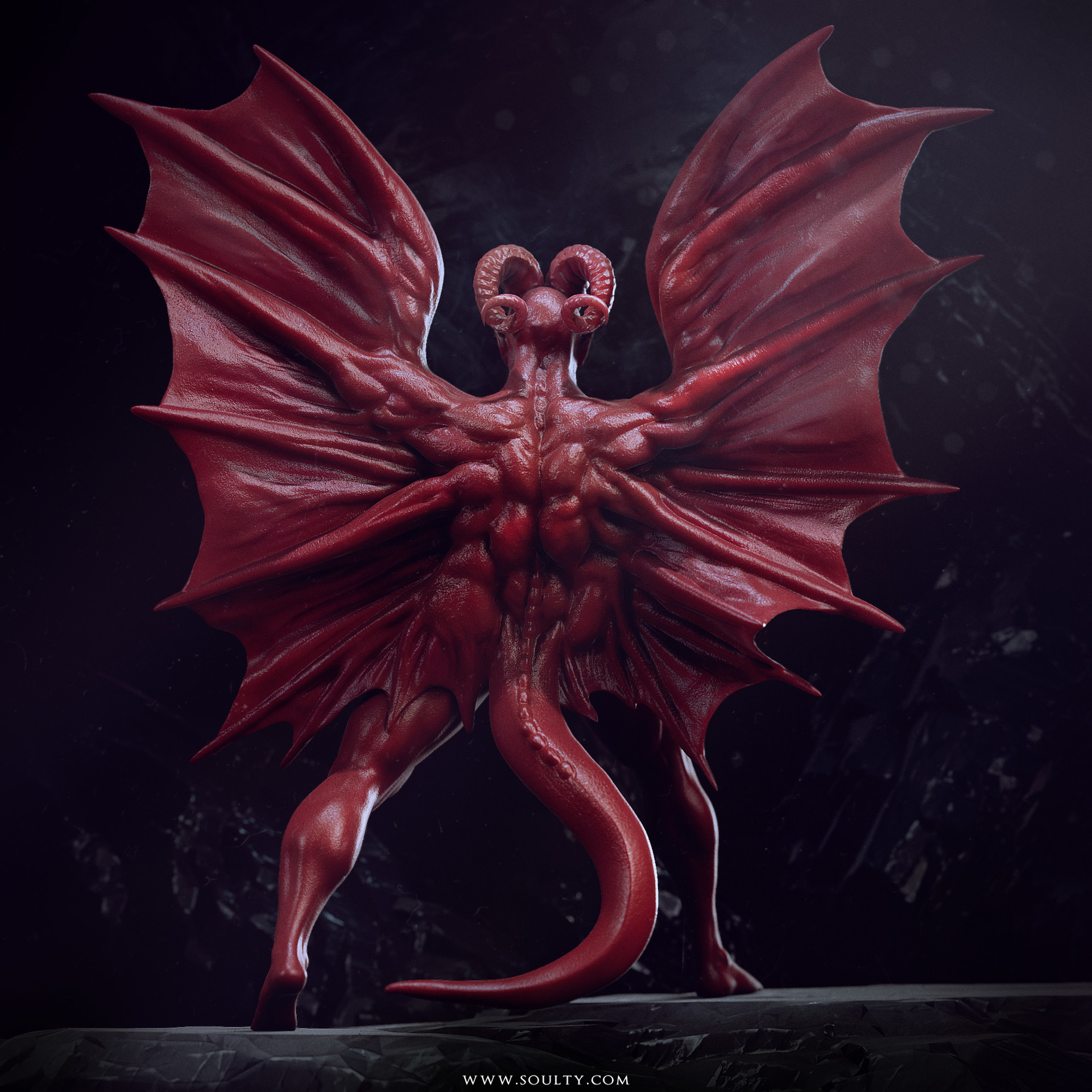 Adam sacco red dragon 3d