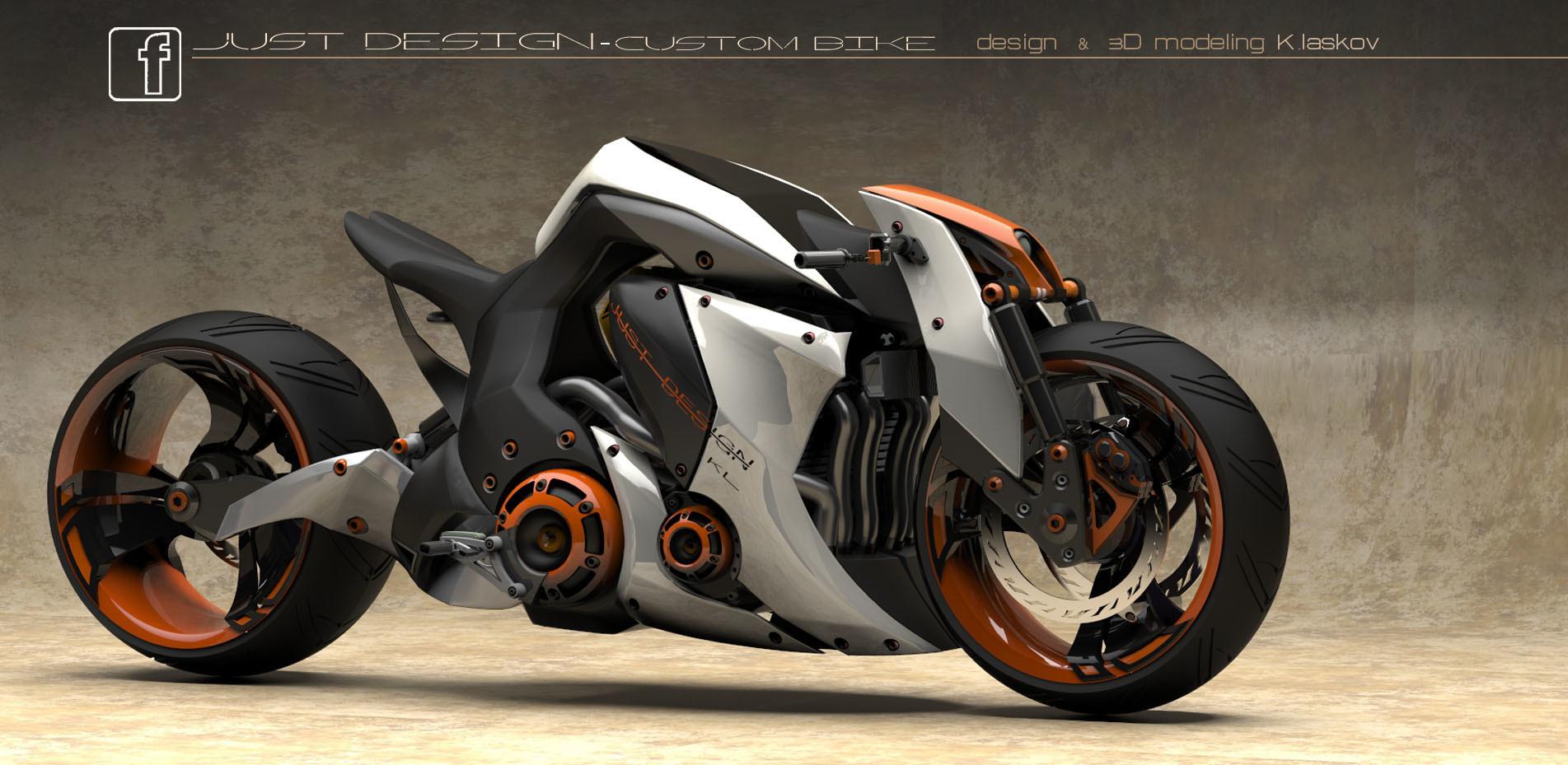 Artstation Street Bike Design Konstantin Laskov