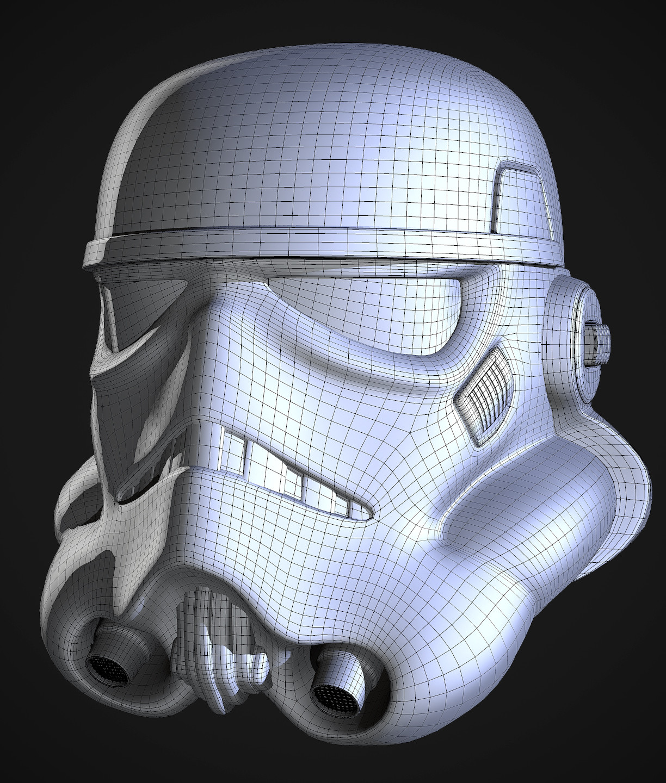 Stormtrooper Helmet Wireframe