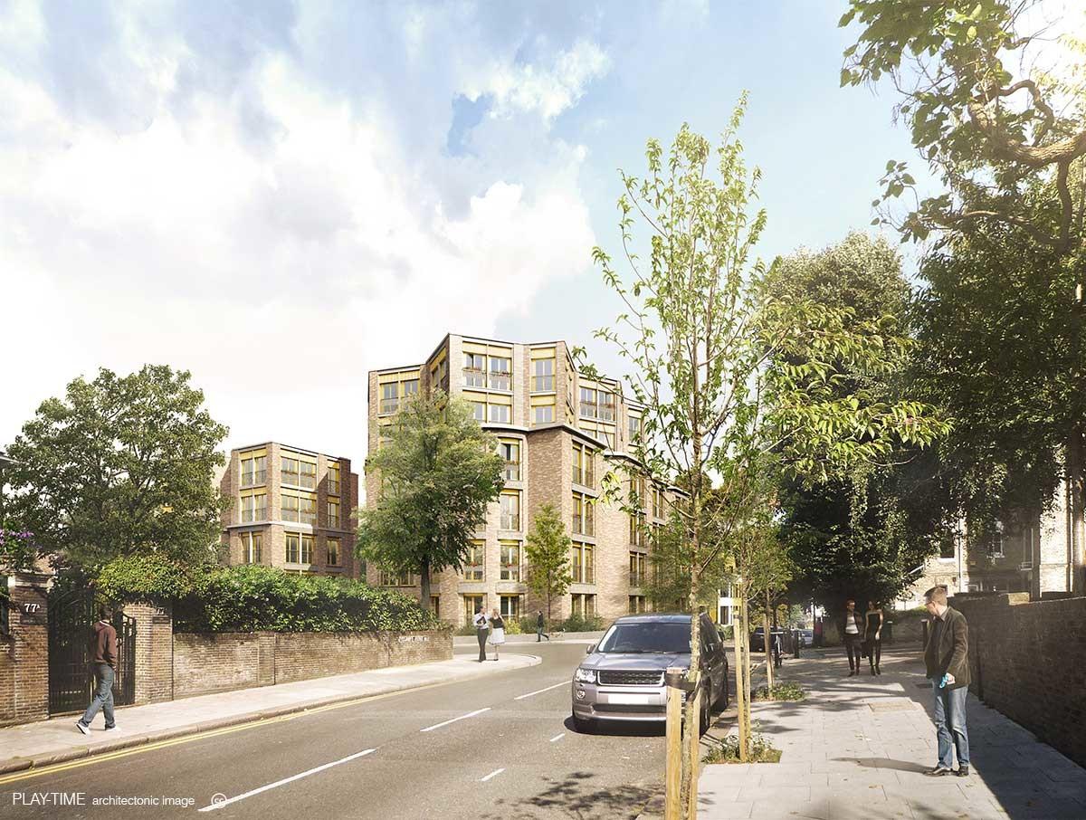 Play time architectonic image sergison bates architects fitzjohns avenue housing london