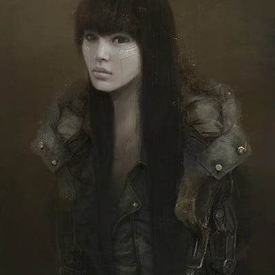 Eve ventrue asian cyborg girl