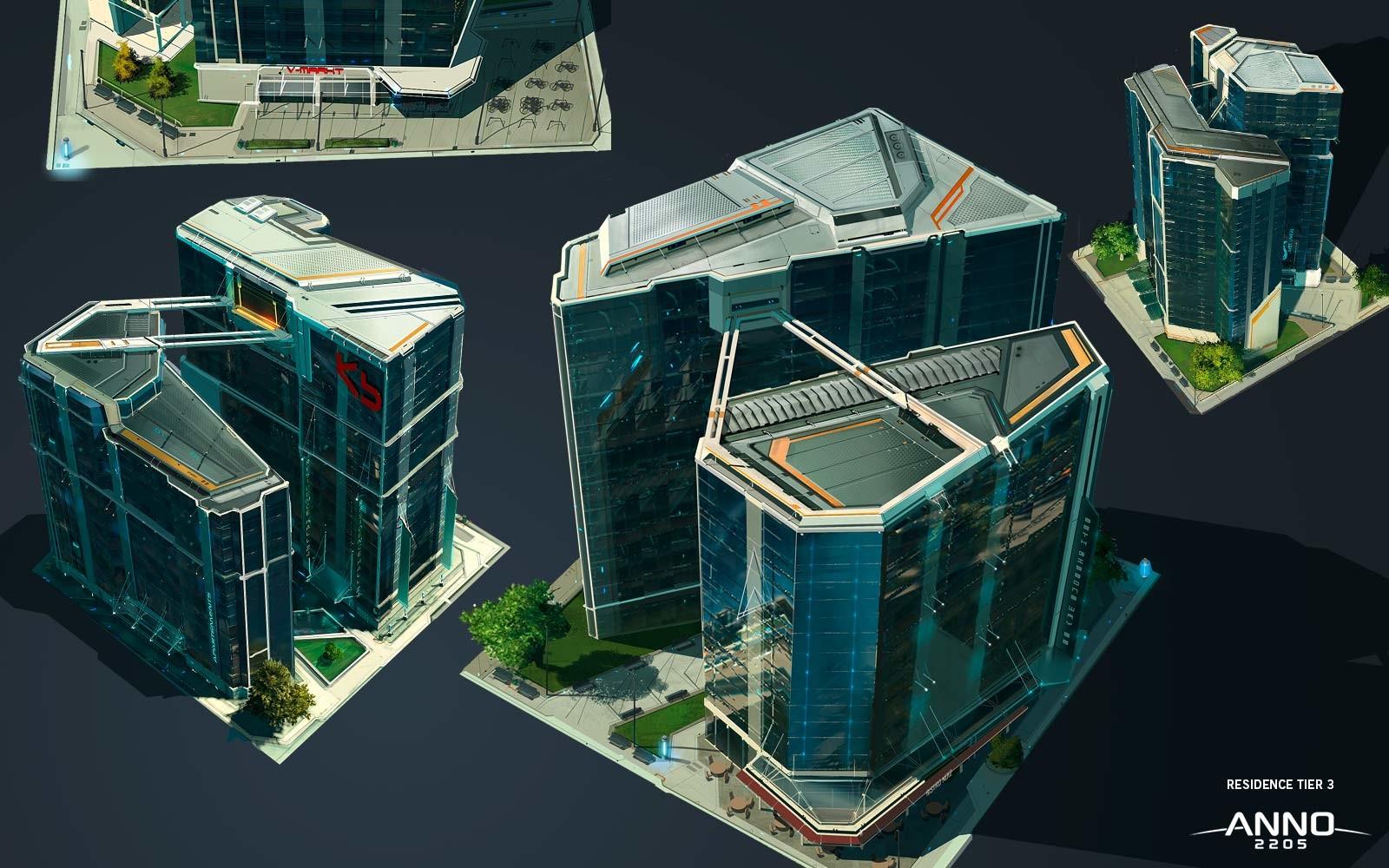 Artstation anno 2205 residence building s ren meding for Anno 2070 find architect